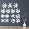 Snowflake Set Christmas Creative Multipack Wall Sticker Seasonal Decor Art Decal