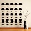 Top Hat Bowler Hat Decorative Patterns Creative Multipack Wall Sticker Art Decal
