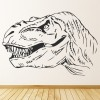 T-Rex Head Prehistoric Dinosaur Wall Stickers Kids Bedroom Decor Art Decal