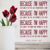 Pharrell Williams Happy Pop Song Lyrics Wall Stickers Music Decor Art Decals