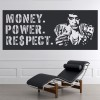 Money Power Respect Scarface Crime Thriller TV & Movie Wall Stickers Home Decals
