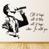 Coldplay Magic Decorative Song Lyrics Wall Stickers Music Decor Art Decals