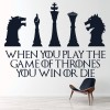 Win Or Die Game Of Thrones TV & Movie Wall Stickers Home Decor Art Decals