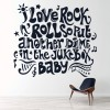 I Love Rock N Roll Life And Inspirational Quote Wall Stickers Home Art Decals