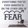 The Other Side Of Fear… Life And Inspirational Quote Wall Sticker Home Art Decal
