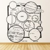 Solar System Space Science Educational Wall Stickers School Classroom Art Decals