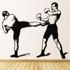 Kickboxing Mid Kick Boxers Sport Wall Art Stickers
