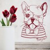 French Bulldog Dressed Up Wall Sticker Dog Wall Art