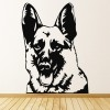 German Shepherd Portrait Wall Sticker Dog Wall Art
