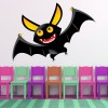 Flying Vampire Bat Digital Wall Sticker