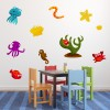 Cartoon Sea Life Group Digital Wall Sticker