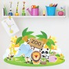 Cartoon Zoo Digital Wall Art Wall Sticker