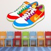 Nike Shoes Digital Wall Art Wall Sticker