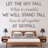 Adele Skyfall James Bond Song Lyrics Wall Stickers Music Décor Art Decals