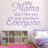My Mama Don't Like You Justin Bieber Song Lyrics Wall Stickers Music Art Decals