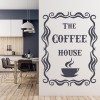 The Coffee House Steaming Cup Sign Quote Wall Stickers Kitchen Décor Art Decals