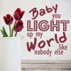 You Light Up My World One Direction Song Lyrics Wall Stickers Music Art Decals