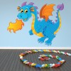 Fire Breathing Dragon Fun Monsters Colour Wall Sticker Kids Art Decals Decor