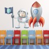 Astronaught And Rocket Space Colour Wall Sticker kids Art Decals Decor
