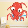 Cartoon Octopus Under The Sea Animal Colour Wall Sticker Kids Art Decals Decor