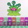 Green Monster Fun Monster Colour Wall Sticker Kids Art Decals Decor