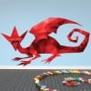 Red Dragon Fun Monsters Colour Wall Sticker Kids Art Decals Decor