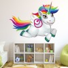 Rainbow Unicorn Cute Fairy & Fantasy Colour Wall Sticker Kids Art Decals Decor