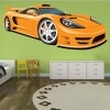 Yellow Porsche Carrera Sports Car Colour Wall Sticker Transport Art Decal Decor