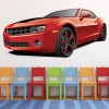 Red Chevrolet Camaro Sports Car Colour Wall Sticker Transport Art Decals Decor