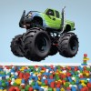 Green Monster Truck Vehicle Kids Colour Wall Sticker Transport Art Decals Decor