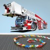 Cartoon Fire Engine Kids Colour Wall Sticker Transport Art Decals Decor