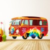 VW Camper Van Hippy Style Transport Colour Wall Sticker Home Art Decals Decor