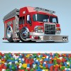 Fire Engine Kids Colour Wall Sticker Transport Art Decals Decor