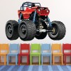 Red Monster Beach Buggy Kids Colour Wall Stickers Transport Art Decals Decor