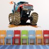 Monster truck in mud Fun Kids Colour Wall Stickers Transport Art Decals Decor