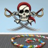Pirate Wall Decal Skull Sword Wall Sticker Kids Bedroom Home Decor