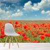 Poppy Field Remembrance Flower Landscape Wall Mural Floral Photo Wallpaper