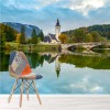 Lake Bohinj Slovenian Mountains Landscape Wall Mural Travel Photo Wallpaper