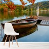 Boat On Bohinj Lake Slovenia Landscape Wall Mural Mountain Photo Wallpaper