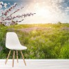 Floral Meadow & Summer Sunshine Countryside Wall Mural Landscape Photo Wallpaper