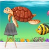 Sea Animals Coral Reef Under The Sea Wall Mural Kids Cartoon Photo Wallpaper