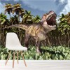 T-Rex Tyrannosaurus Roaring Prehistoric Dinosaur Wall Mural kids Photo Wallpaper