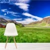 Cottage In The Mountains Icelandic Landscape Wall Mural Travel Photo Wallpaper