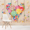 Lollipops & Candy Heart Sweets Food & Drink Wall Mural Party Photo Wallpaper