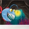 Angler Fish In Cave Under The Sea Wall Mural Kids Cartoon Photo Wallpaper