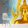 Golden Buddha In Temple Bangkok Thailand Religion Wall Mural Photo Wallpaper