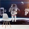 Astronauts In Outer Space Above Earth Science Wall Mural Planets Photo Wallpaper