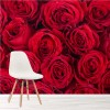 Red Roses Flowers Decorative Romantic Floral Wall Mural Home Photo Wallpaper