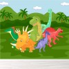 Cartoon Dinosaur Group Jurrasic Prehistoric Wall Mural kids Photo Wallpaper