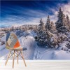 Snowy Beskid Mountains Polish Winter Landscape Wall Mural Nature Photo Wallpaper